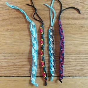 Lot of 4 friendship bracelets multicolored 👫